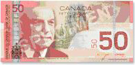 billet canadien