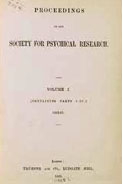 Proceedings of the S. P. R